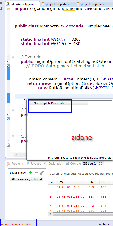 """Software] [IDE] [Eclipse] How to fix """"No completions"""